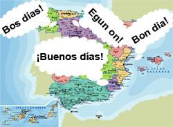 Resultado de imagen de lenguas cooficiales de españa